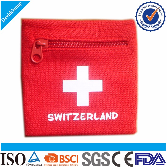 Promotional Gift Items Fitness Sport Wristband & Custom Sweat Wrist Band & Health Cotton Wristbands with pockets 2016