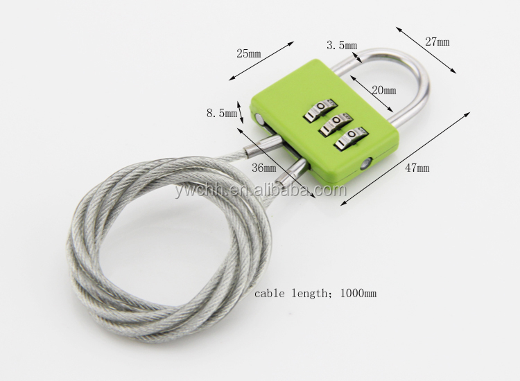 Steel cable lock use for stroller lock bike cord lock