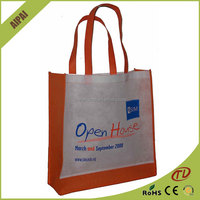 Custom reusable Large Grocery Tote PP non woven bag, non woven fabric laminated shopping bags