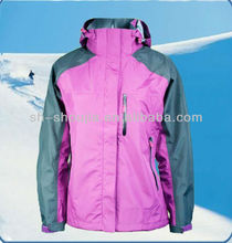 Sports jacket custom design, 2013 new fashion women's winter sports jackets with hood, high quality stylish sports jacket