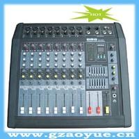 Low noise microphone inputs dj music mixer (MX860D)