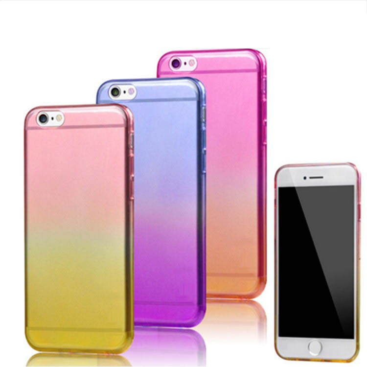 gradual change color TPU cell phone cases for iphone cover cases