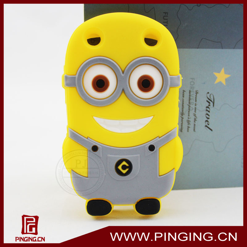 cute despicable me phone case 3D cartoon silicon case for blackberry 9320