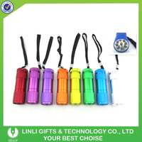 2016 Popular Mini Promotional Metal Led Pocket Torch Flashlight For Camping Safety