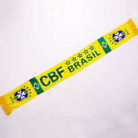wholesale cheap printed brazil football scarf