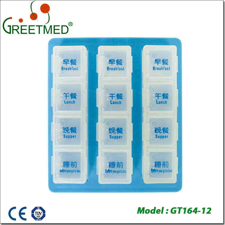 Total quality controlled bpa free vitamin pill box