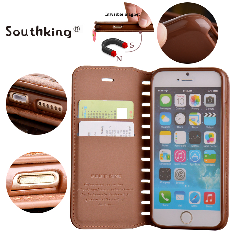 2016 New Design book style flip leather cover for iphone 6 cover low price china mobile phone case