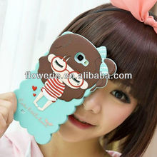 FL2591 2013 Guangzhou hot selling soft rubber silicone girl case for samsung galaxy note 2 n7100