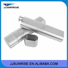 2015 double wholesale 2OZ exquisite stainless steel cigar tube hip flask