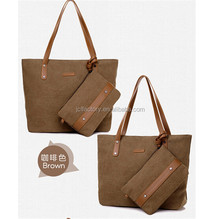 canvas stuffed bun mother big bag in tote bag leather