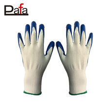 Free sample 13G seamless white polyester industrial hand nitrile gloves