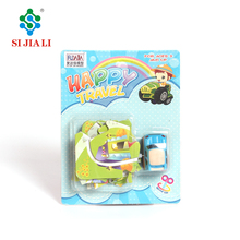 Promotion Custom DIY Paper Cardboad 3D Small Mini Puzzles With Wind Up Car