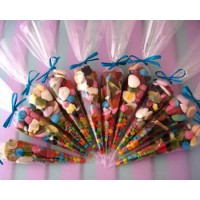 Chocolate pie cone shape candy bag triangle bopp bag