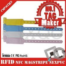 Disposable rfid paper wristband for hospitals and events