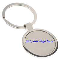 Keyring manufacturers custom metal blank keychain/key chain/key ring for promotional gifts