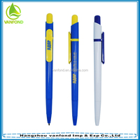 Promotional click style refill custom plastic ball pen with logo