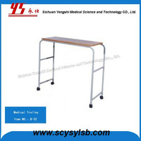 High Quality Metal Frame Hospital Food Dining Table Trolley Cart