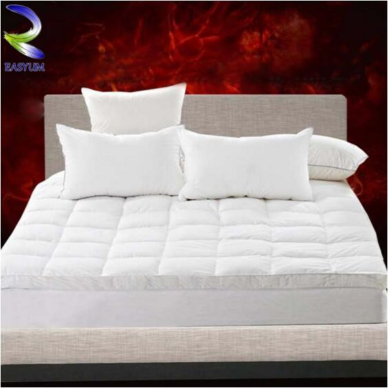 Cotton Fabric Cover Rolled up Goose Down Feather Filled Bed Mattress