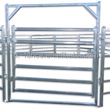 Australia temporary horse round metal yards fence panel and farm fence gate for goat farming equip