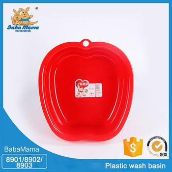 Best price superior quality plastic small baby foot wash basin face basin hand basin