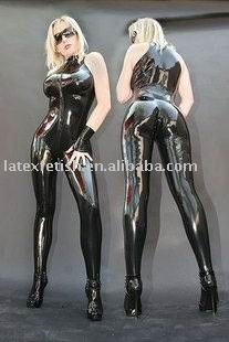 100% handmade natural Latex catsuit