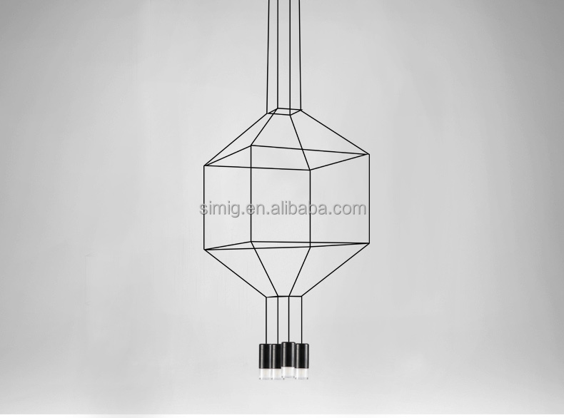 Roll Hill LED Black modern metal chandelier frame D450*H1300MM