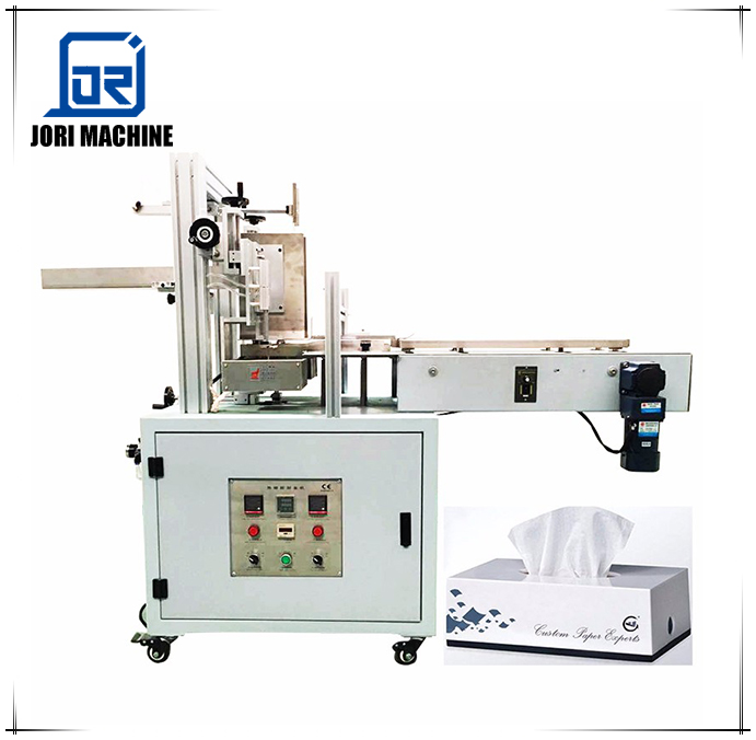Semi Automatic Hot Melt Glue Tissue Carton Box Sealing Machine