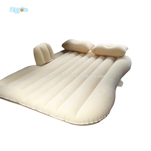 Flocked PVC Inflatable Car Air Bed Mattress For Travel