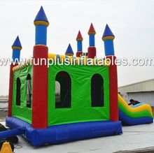 commercial inflatable combo/ inflatable bouncer slide F3104