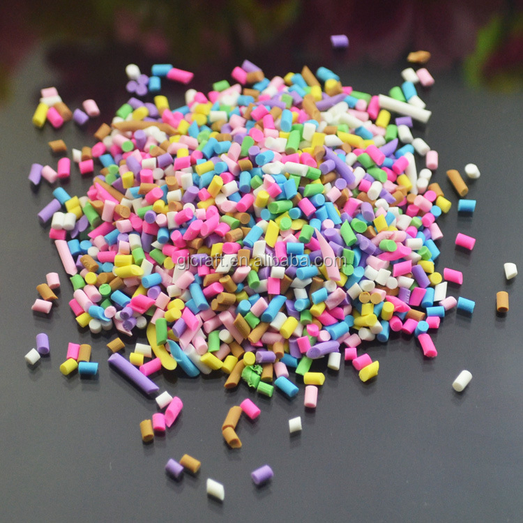 Artificial Multi-color Chocolate Stick Sprinkles Polymer Clay Chocolate Color Needle For Ice-cream Decoration