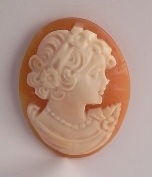 Loose shell cameo for wire sculpture