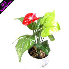 Anthurium Bunch Decorative Autumn Leaves Hanging Plant Pot