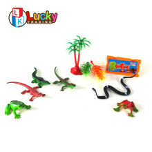 fashion colorful series crawling plastic forest animals toys with cheap price