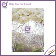 K4239 Fancy wedding occasion decoration crystal beaded curtain for sale