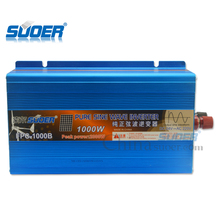 Suoer Factory manufacture 1000w 24v 230V volt 1000 watt solar power inverter with pure sine wave