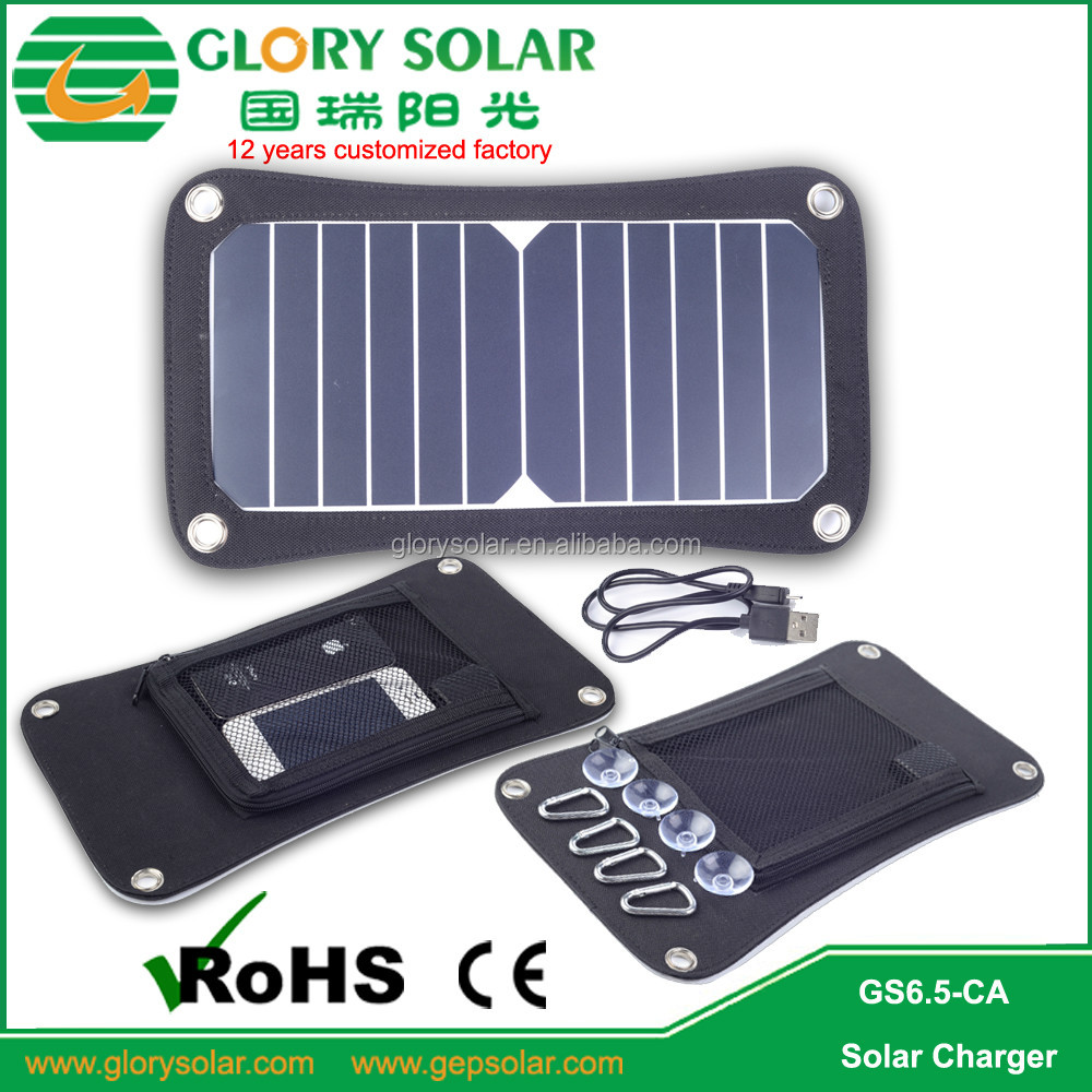 Novelty Solar Cell 6.5W Portable Folding Solar Panel Cell Phone Charger Sun Energy Charger