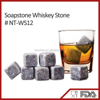 NT-WS12 food grade safe whisky ice stone high quality ice cube for party