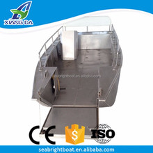 High Quality China Factory Custom Welded Landing Craft Flat Bottom Aluminium Tug Work Boat for Sale