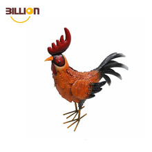 Colorful Figurine Craft Rooster Figurine Chicken Iron Statue Decoration