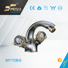 China MEIYA 1 hole dual handle brass faucet women healthful ware
