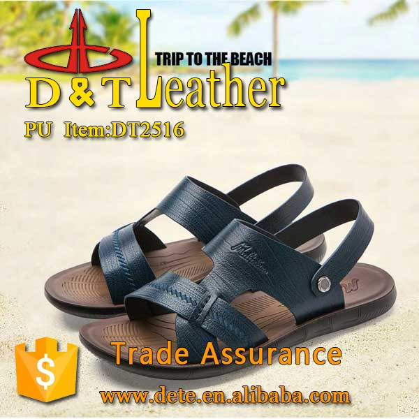pu synthetic leather for man sandals shoes