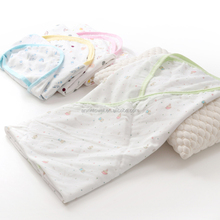 infant baby bath towel with hood pattern baby towel single layer poncho wrap for toddler