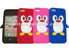 Cell Phone Penguin 3D Silicone Covers Case For iPhone 5
