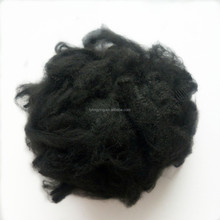 High tenacity 1.2d/1.3d/1.4d/1.5d black color recycled solid polyester staple fiber