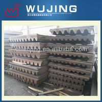 Wear Resistant High Manganese Steel Casting Jaw Crusher Steel Plate
