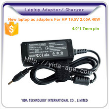 40w for hp 19v 2.05a 4.0*1.7 mm notebook adapter
