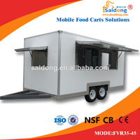 Mobile Kitchen Advertising Ice Cream Slush Machine Food Van/Food Trailer/Food Cart