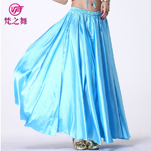 Q-6023 Long spanish belly dance dress skirt for adult with size 95cm and 75cm