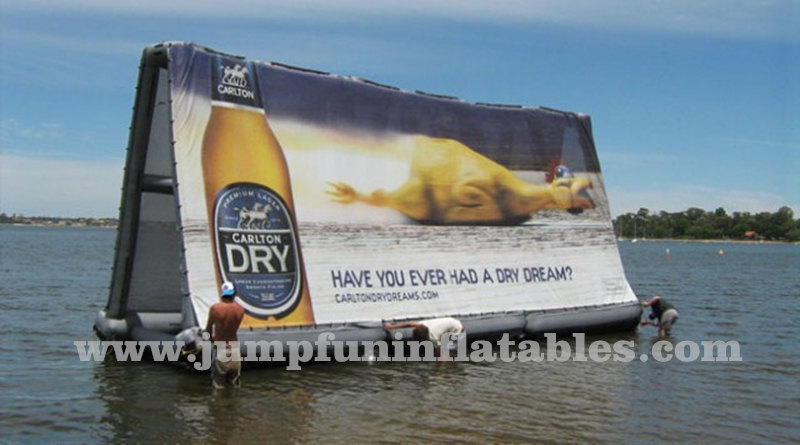 air-tight Inflatable Floating Billboard removable advertising banner water advertising equipments