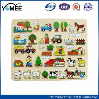 high quality custom magic wooden puzzle toys